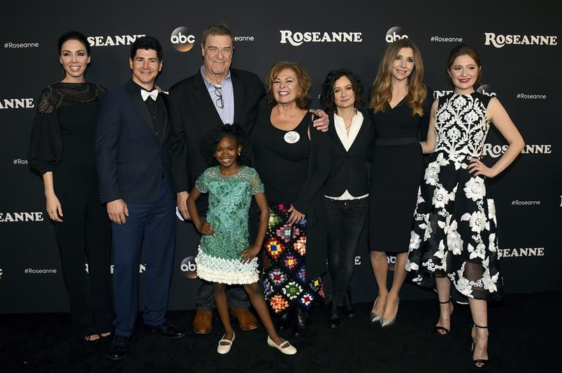 """Crew of """"Roseanne"""" i(Photo by Jordan Strauss/Invision/AP, File)"""