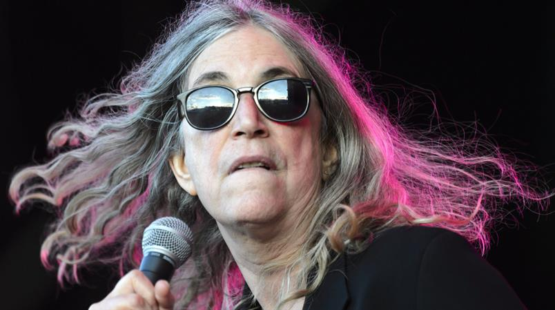 Patti Smith lors de sa prestation aux Arches de Paléo en 2015.