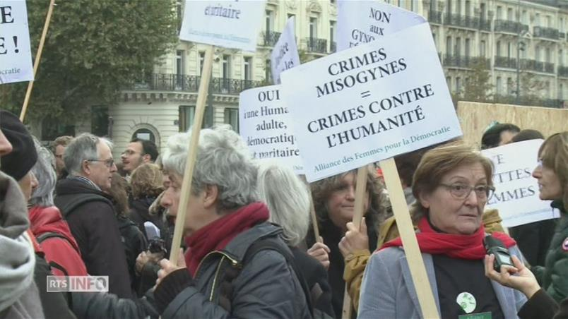 Manifestations en France contre les violences sexuelles.