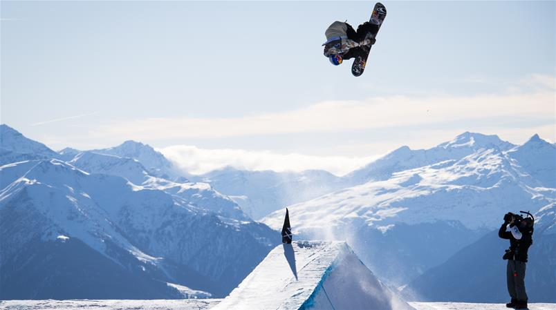 Slopestyle in Laax.