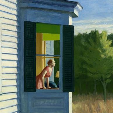 "Edward Hopper, ""Cape Cod Morning"", 1950."